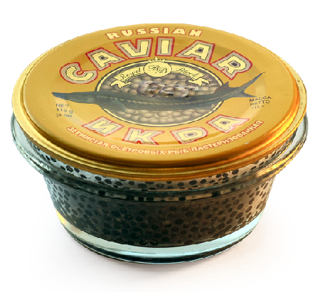 Osietra Caviar  in  the  classical  caviar tin (pasteurized)  56.8 gr